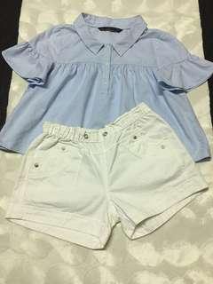 🚚 ZARA寶寶藍上衣+短褲