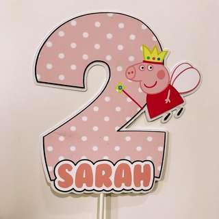 ✔️Personalized cake topper - Peppa pig