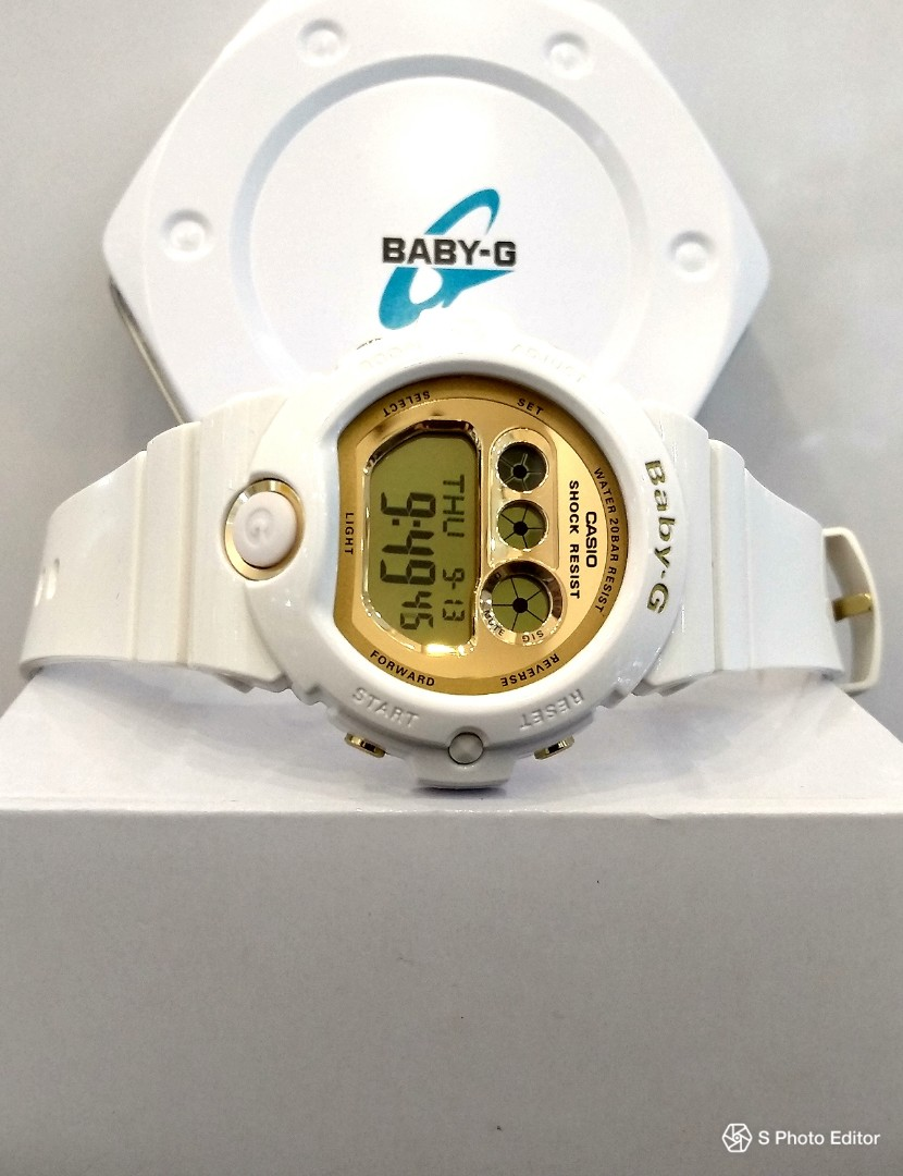 03f163ceaa1f FREE DELIVERY * Brand New 100% Authentic Casio BabyG White Gold ...