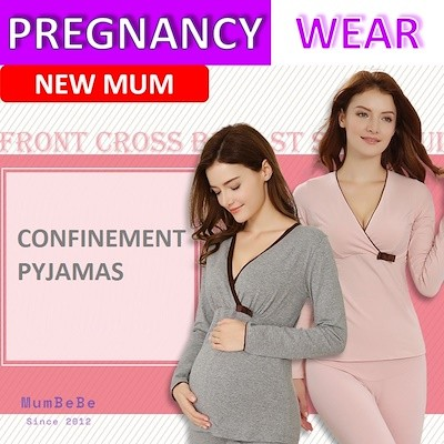 0465703c2339d Nursing Pyjamas  Confinement pyjamas pajamas breastfeeding top ...