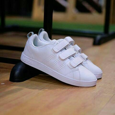 Adidas Neo Advantage Velcro Original White, Women's Fashion ...