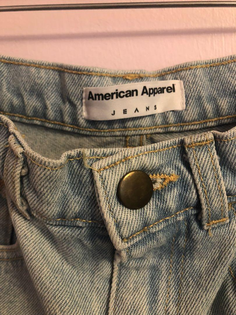 American Apparel High-waisted vintage washed shorts