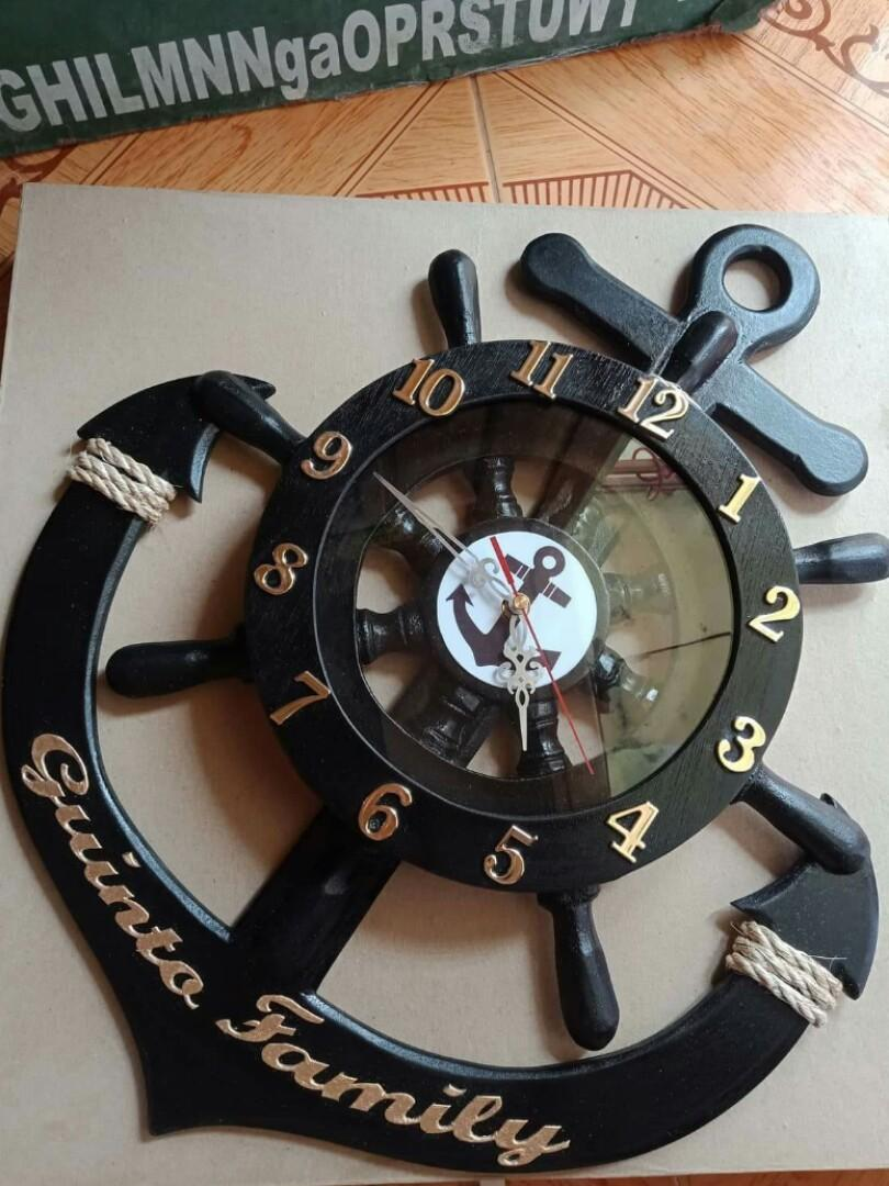 Anchor Wall Clock Home Furniture Furniture Fixtures Others On Carousell