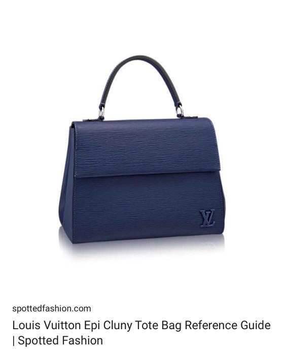 f9661259dcc 💯Authentic Louis Vuitton Cluny MM Epi Leather Indigo Color, Luxury ...