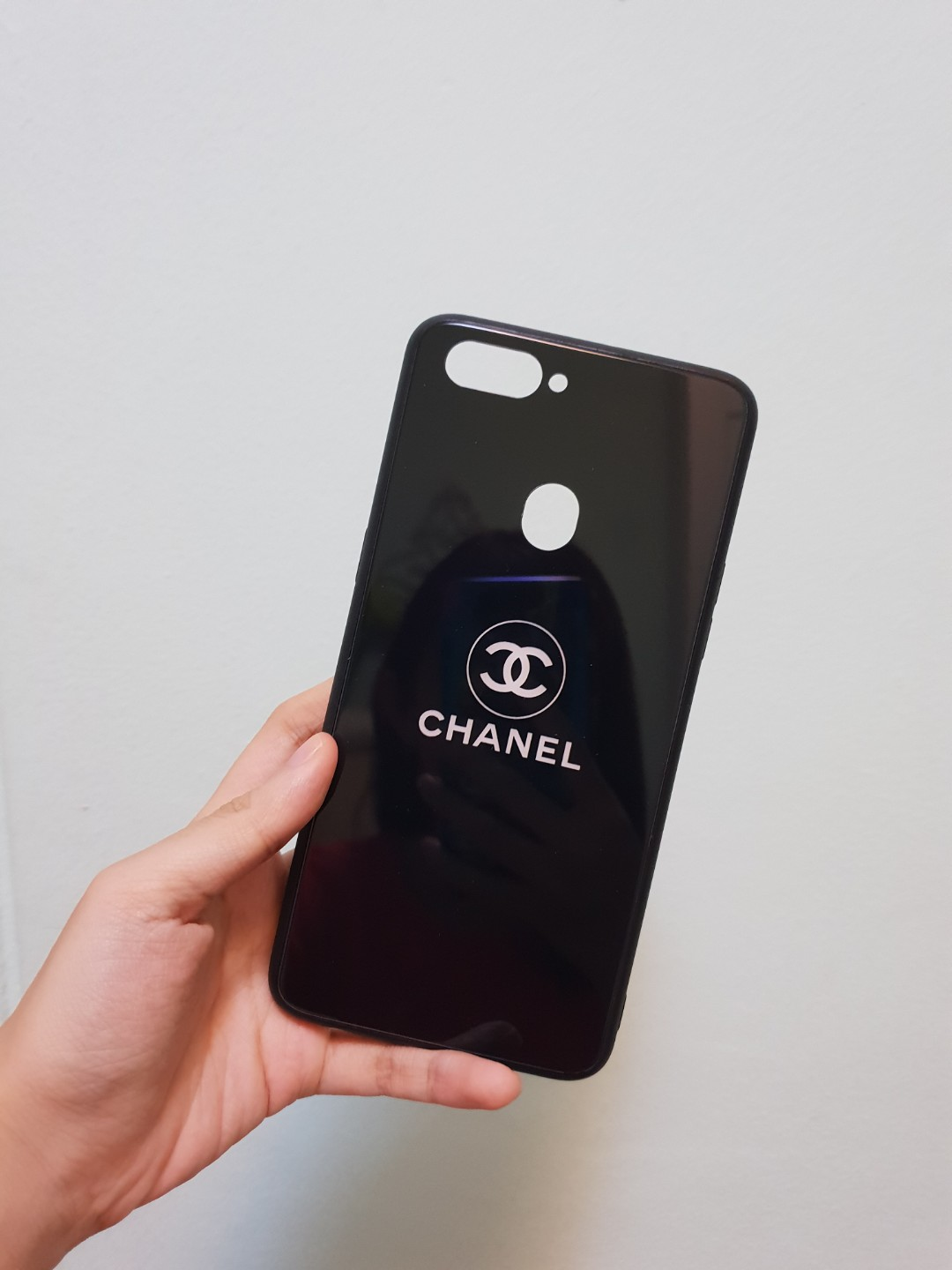 new styles c25d9 75332 Black chanel oppo R11s plus case