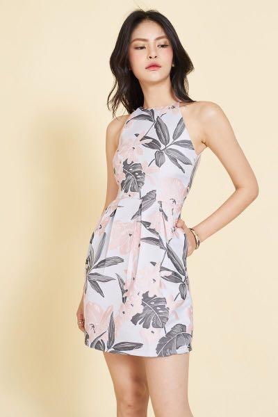 da20a0a2fd2 BNWT Intoxiquette INTQ Imogen Jacquard Printed Dress in Pink, XS ...