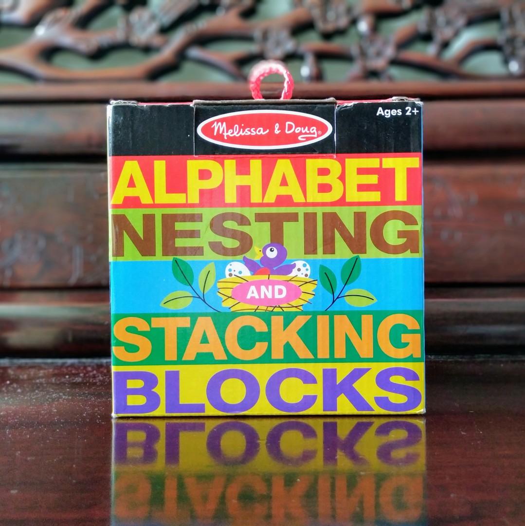 Brand New Melissa Doug Alphabet Nesting And Stacking Blocks