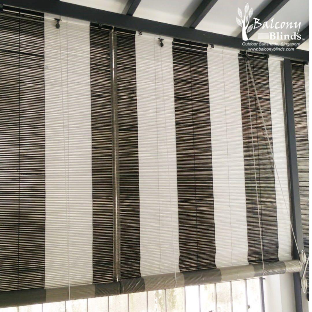Colonial Style Black White Bamboo