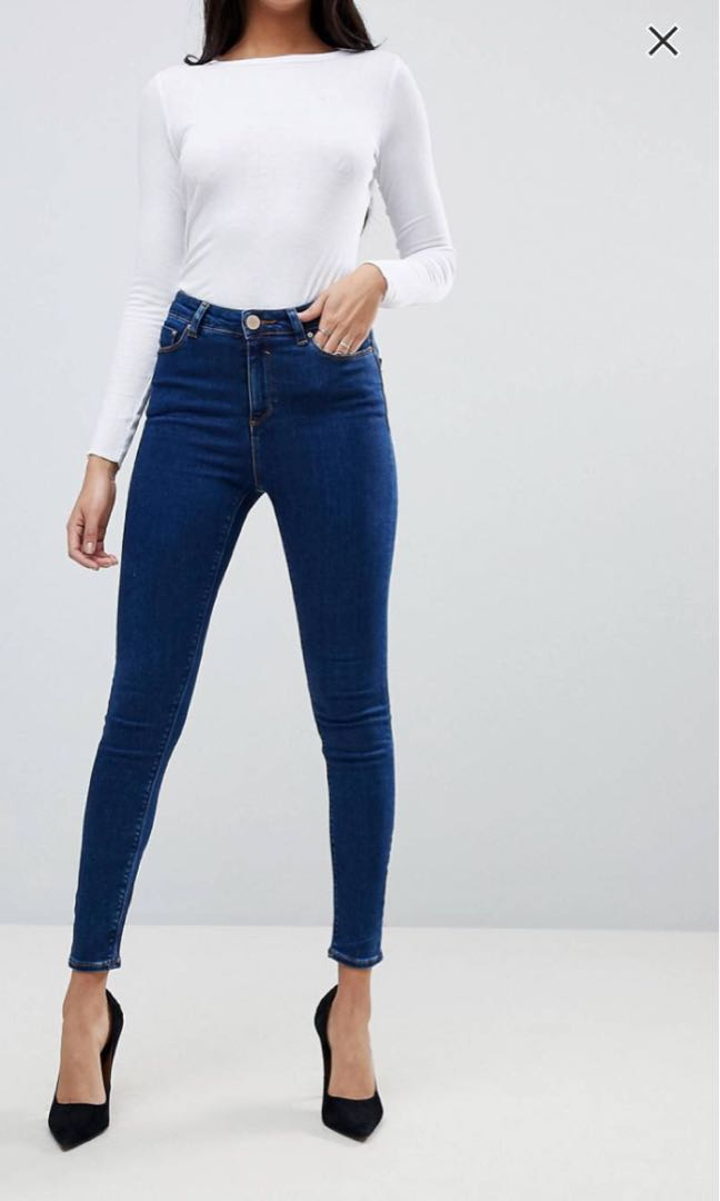 506572f78f DARK BLUE HIGHWAISTED JEANS, Women's Fashion, Clothes, Pants, Jeans ...