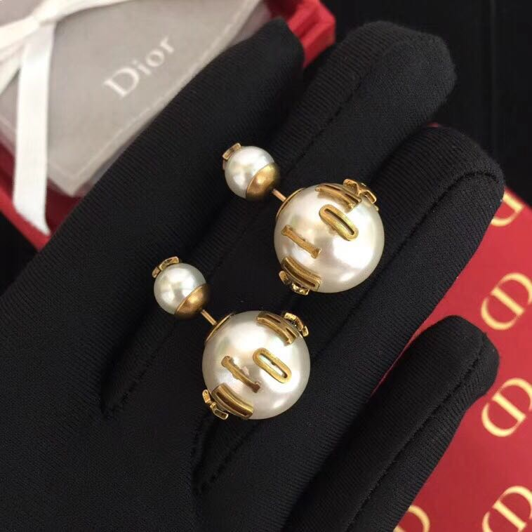 50a2c86fd6f97d DIOR TRIBALES EARRINGS IN GOLD-TONE AGED METAL, Women's Fashion,  Accessories, Others on Carousell