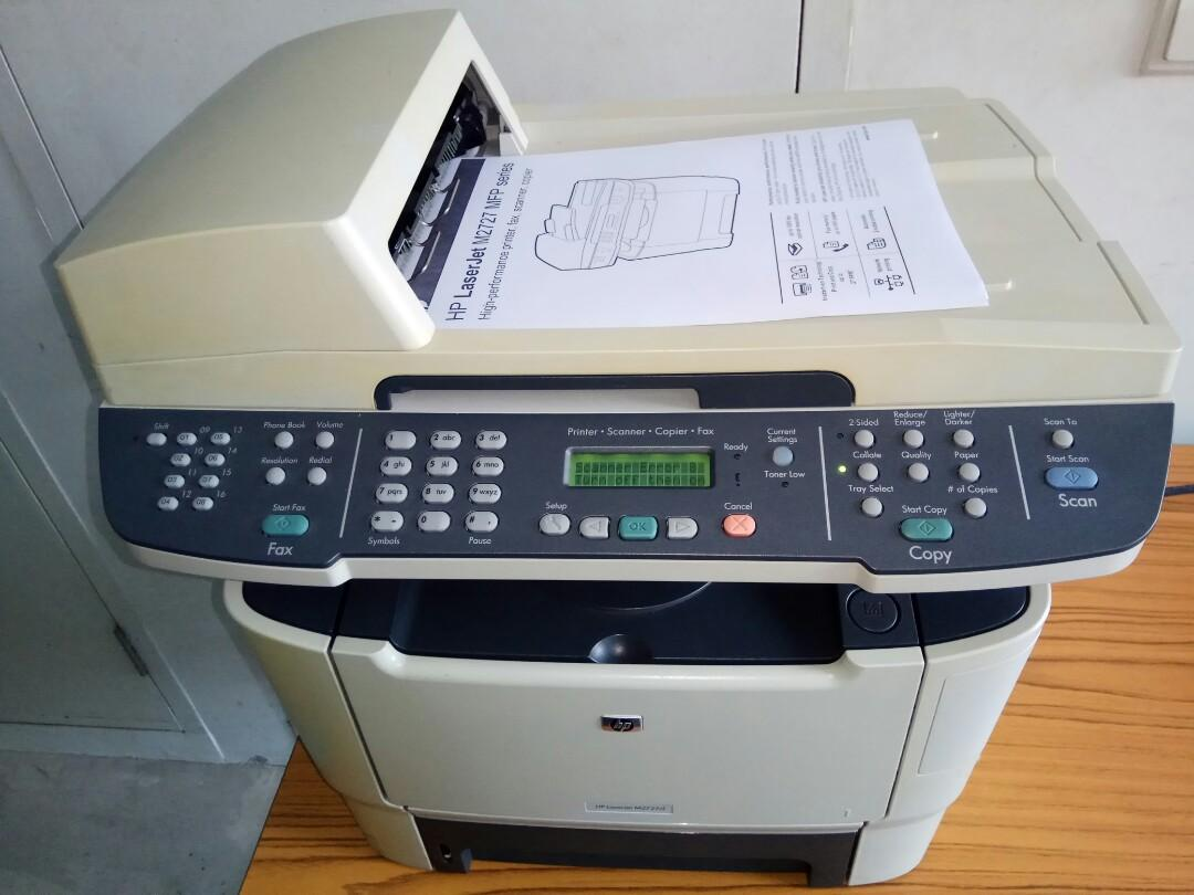HP Laserjet M2727 MFP b/w Laser Printer (Scanner Error 8 on