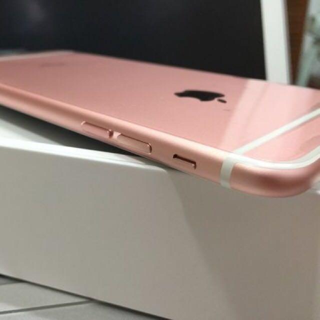 iphone7 plus 128G 玫瑰金女用 9.9成新面交
