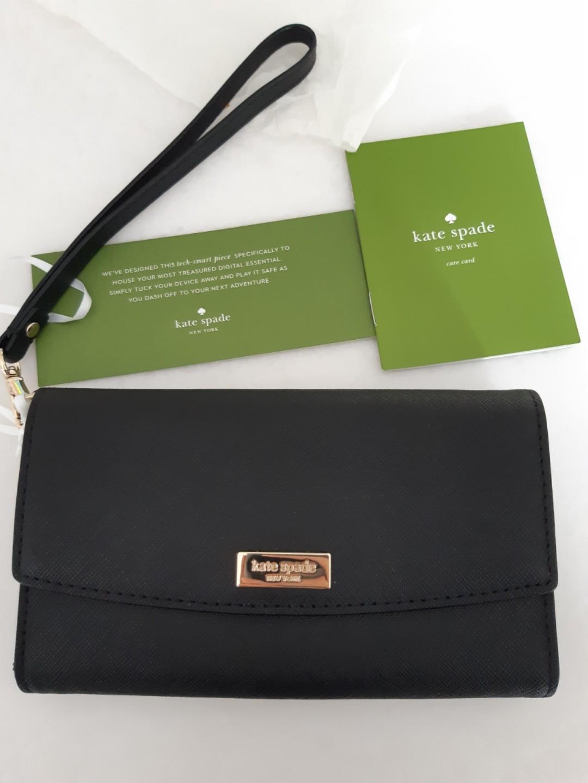 new product 2fca4 f55da Kate Spade iPhone Wristlet (black)