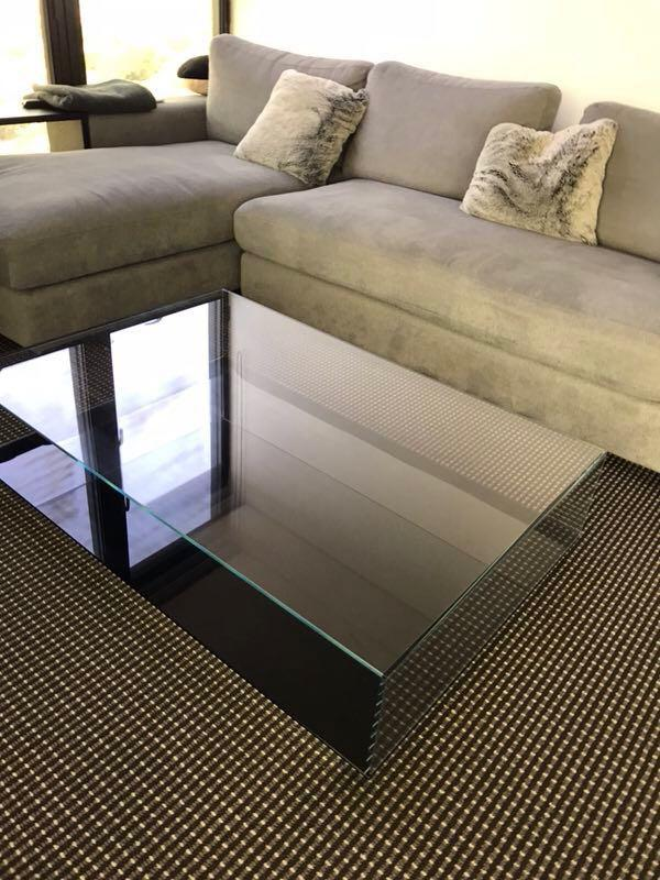 King Living Miss Coffee Table Tempered Crystal Glass