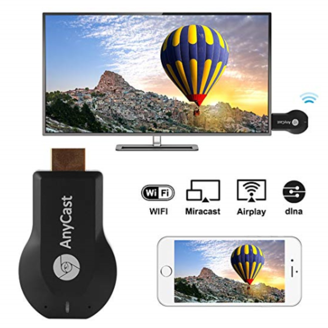 Kreema M4 Plus Anycast Wifi Display Dongle Wireless Tv Receiver Hdmi 1080p Media Mirroring Support Dlna Miracast Airplay Electronics Others On Carousell