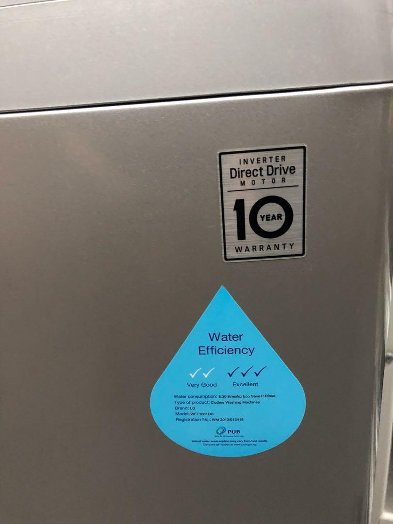 LG 10 kg Top load washing machine