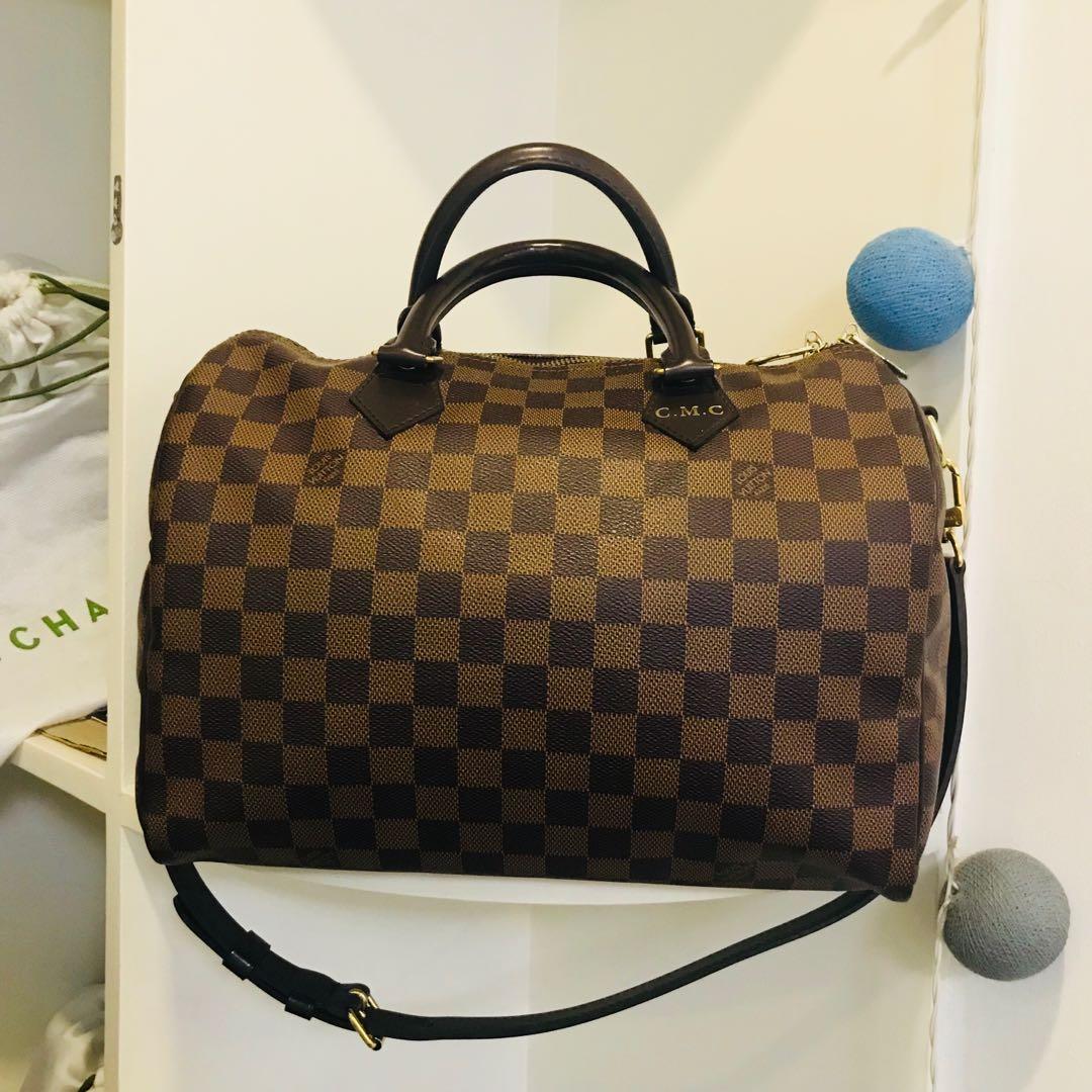 e1cea0fda1925 Louis Vuitton Speedy 30 Bandouliere Damier ebene