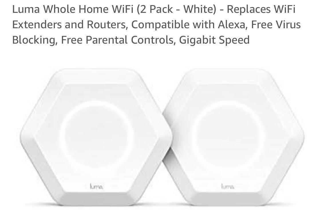 White Replaces WiFi Extenders /& Routers Luma Whole Home WiFi 1 Pack