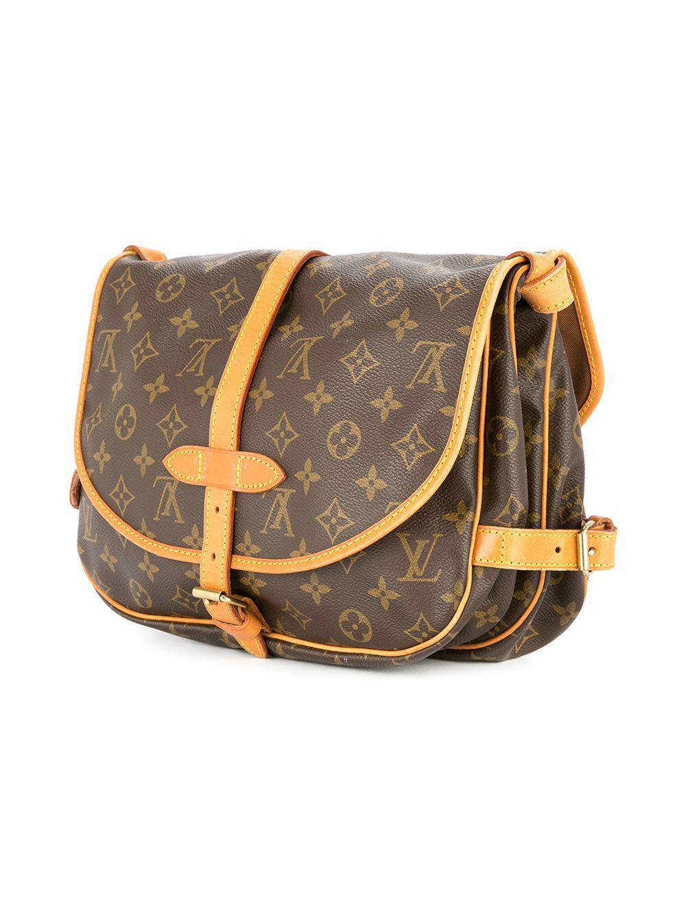 LV Louis Vuitton Saumur 30 Monogram Shoulder Bag (Authentic Vintage ... 08919ba3f0f9b