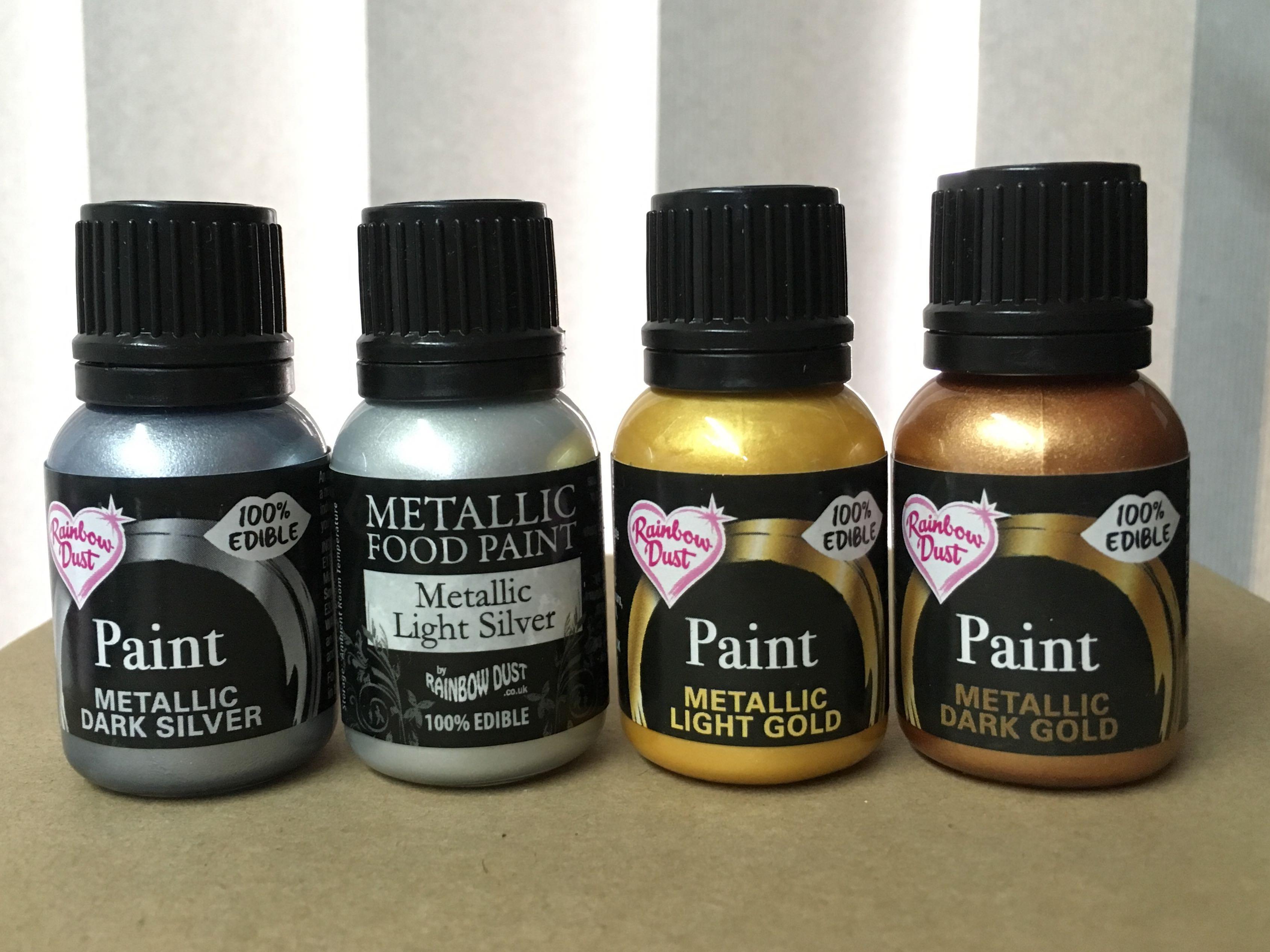 Rainbow Dust Light Silver Metallic Food Paint