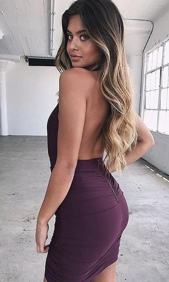 Mini purple TigerMist dress