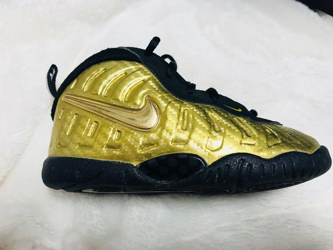 Nike-air-foamposite-pro-metallic-gold Size 8 for toddlers