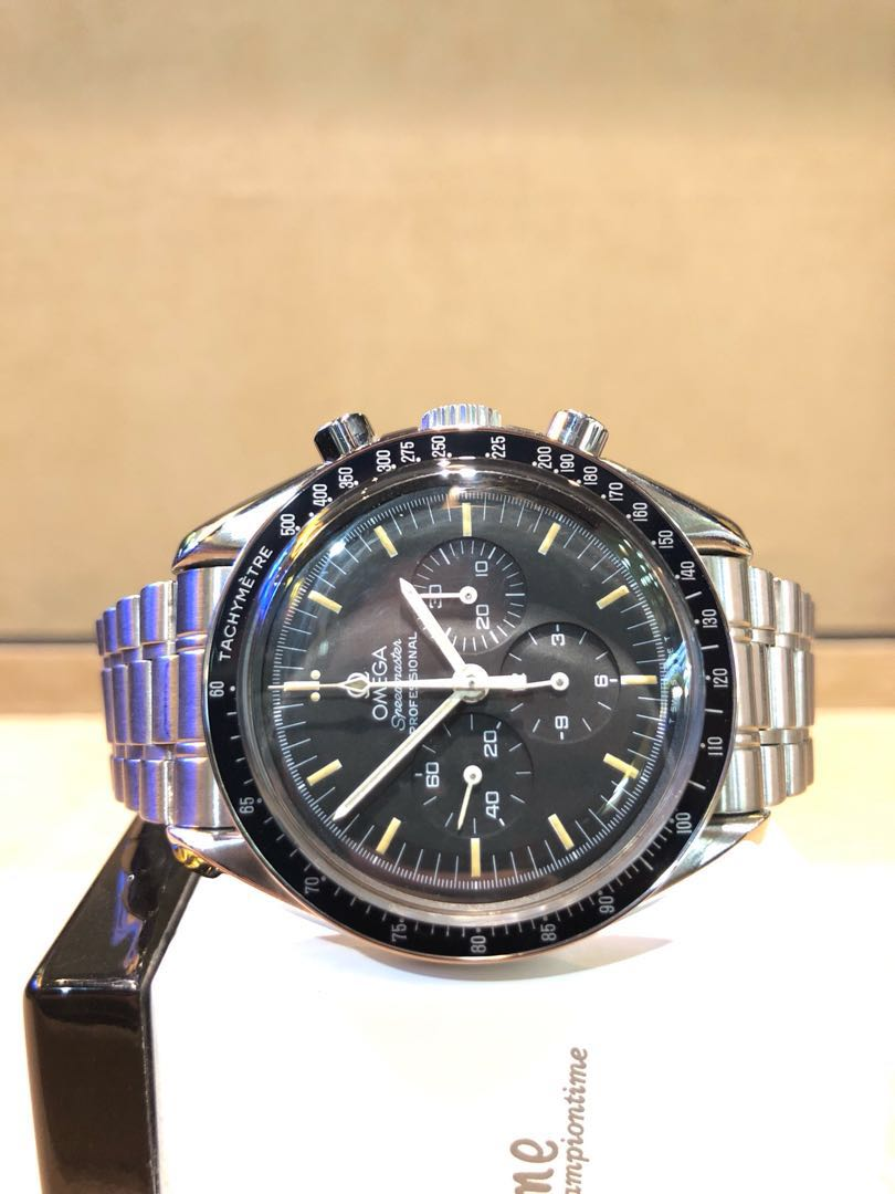 Pre Owned Omega Speedmaster Professional 154 022 Black Dial Winding