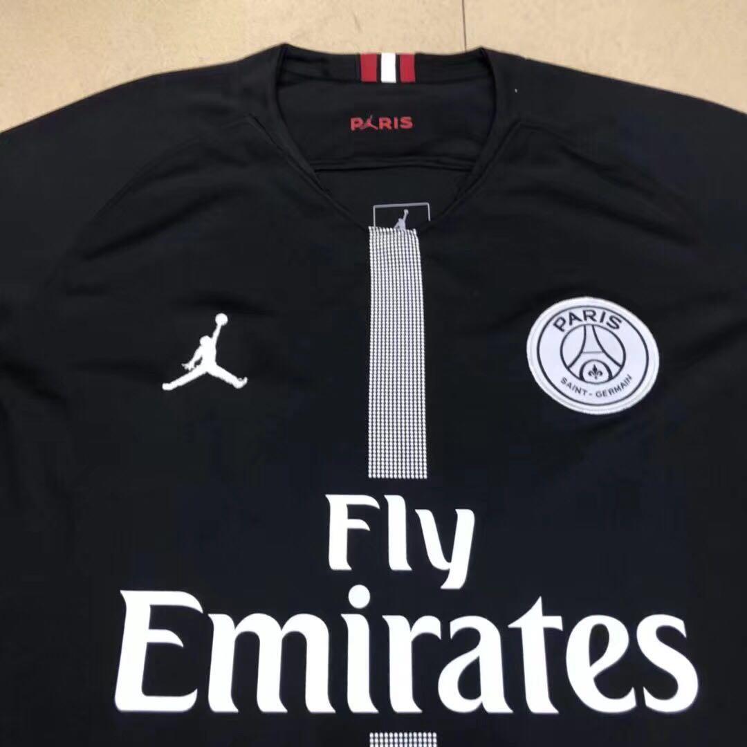 half off 0d579 376c5 PSG Nike Jordan black jersey collection!!, Men's Fashion ...