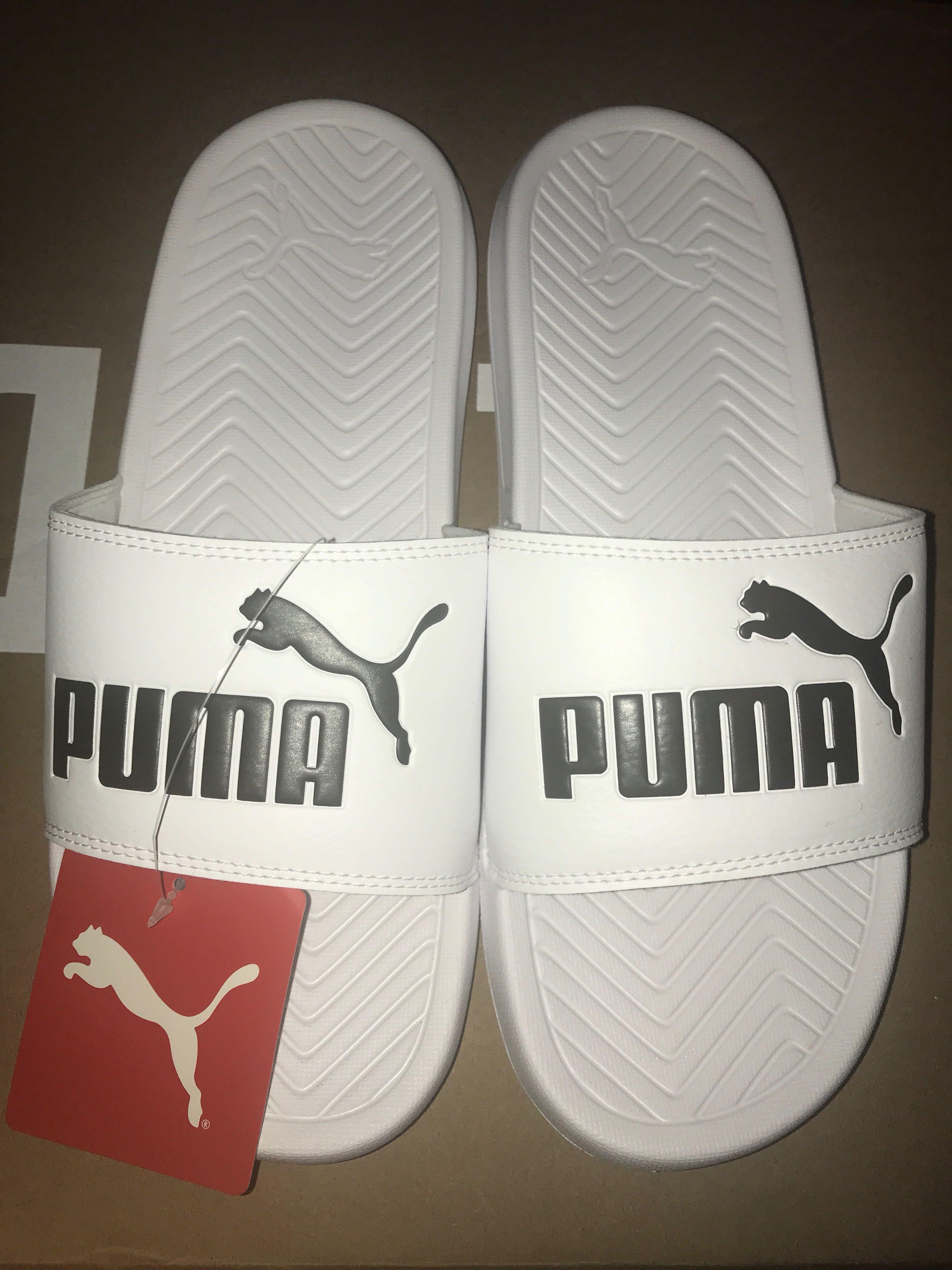 8e0a15e611f4 Puma White Popcat Slides In White
