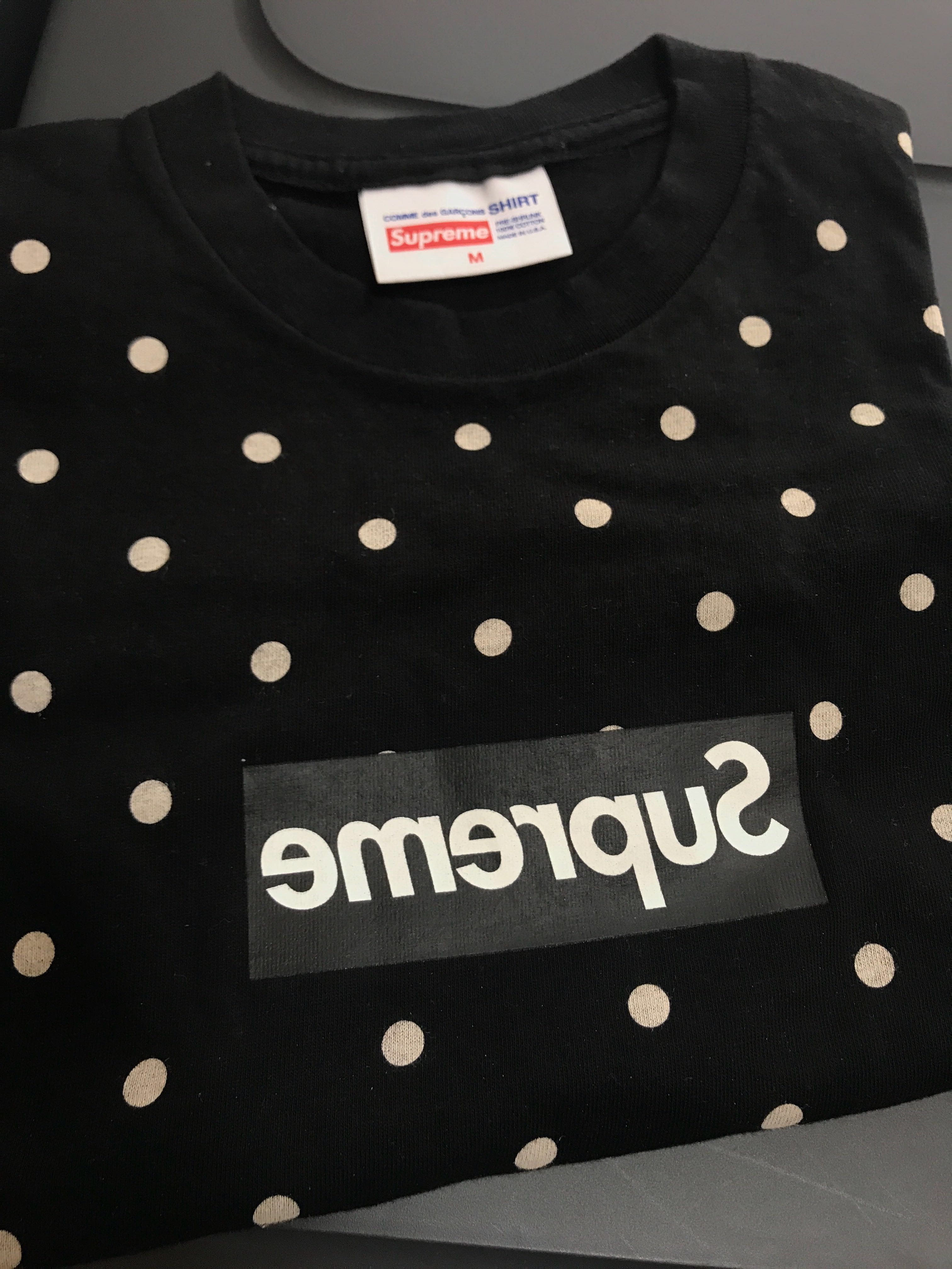 f913d816dc3d Supreme Comme des Garcons CDG 2012 Box Logo Black M Bogo, Men's Fashion,  Clothes, Tops on Carousell