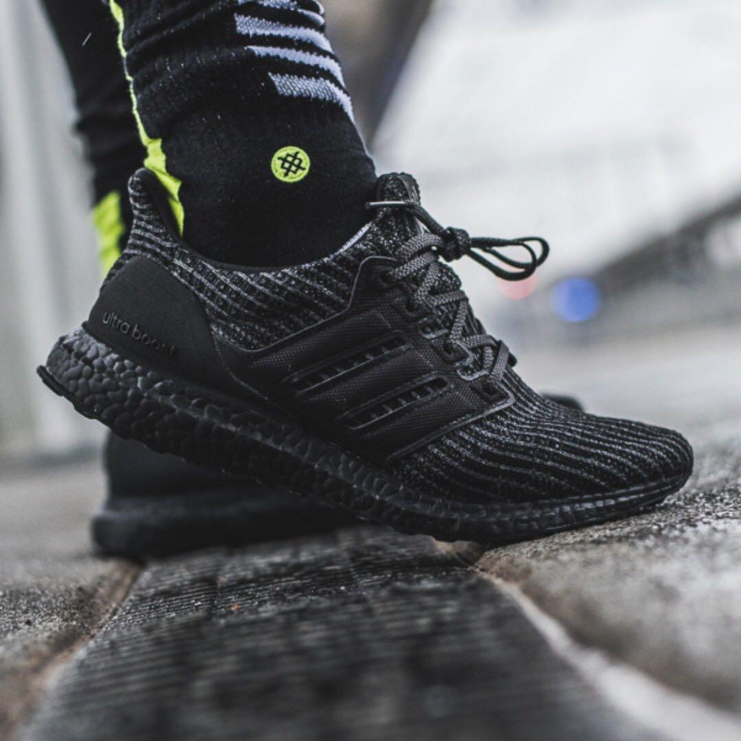 the best attitude c0fc3 57699 Ultra Boost 4.0 Triple Black, Mens Fashion, Footwear, Sneake