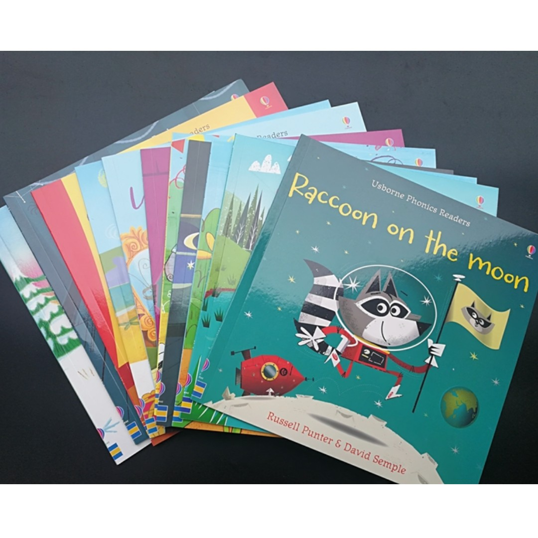 Usborne Phonics Readers I & II Sets of 12&11 books for kindergarten ...