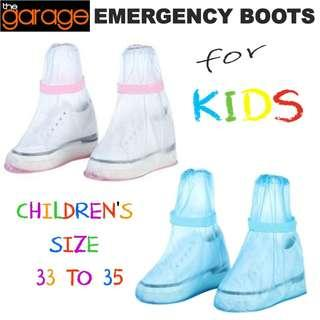 EMERGENCY BOOTS WATERPROOF REUSABLE SHOE COVERS for kids