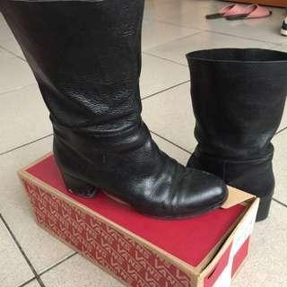 品牌全皮短靴