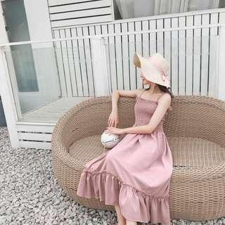 🚚 PO: Ava's sleeveless ruffle midi dress (Korean Fashion)