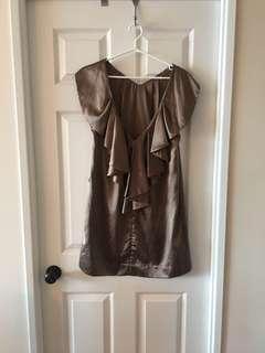 Short Cocktail Dress (copper, size S)