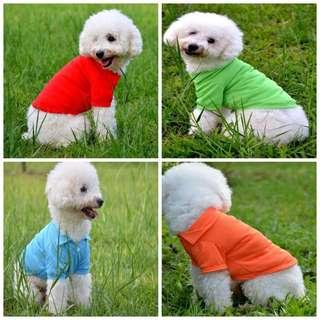 Instock Polo Tee Puppy Dog Cat Pet Tshirt Vest Clothes Shirt Accessories Stripes Cute Clothing