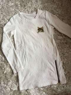 White cat sweater