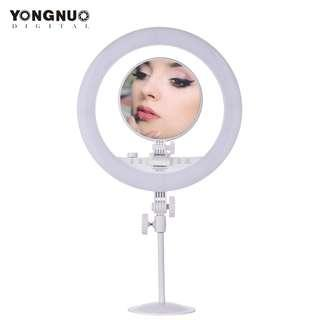 Yongnuo YN208 Ring Light with Mirror Bi Color LED 3200k-5500k with Stand