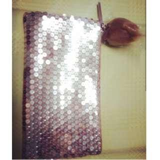 Mac cosmetics rose gold sequin pouch