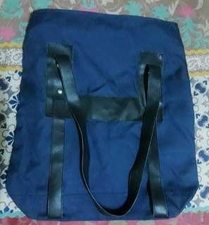 Tas Casual Totebag Biru Jeans