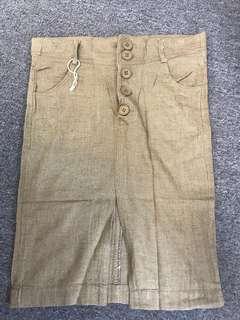 Linen buttons up skirt
