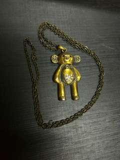 New! Vintage Bear long necklace