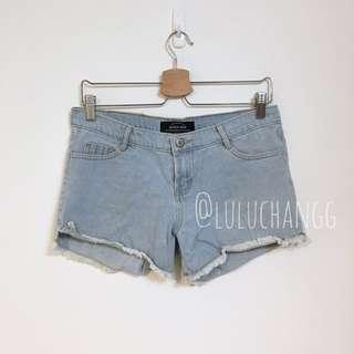 Queen shop 淺藍牛仔短褲M