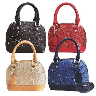 Perfectlive Glamour Glitter Star Shiny Evening Dinner Party Small Handbag Sling Bag Clutch