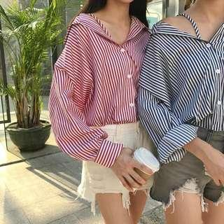 #UNDER90 Chic Striped Blouse