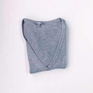♥ Uniqlo Light Gray Slim Fit Cardigan