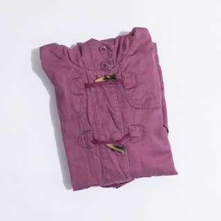 ♥ Mossimo Dark Dusty Rose Parka with Hoodie