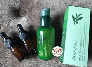 Innisfree green tea seed serum share in botol pipet 5 ml