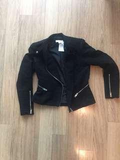 BNWT H&M motor style jacket size 6